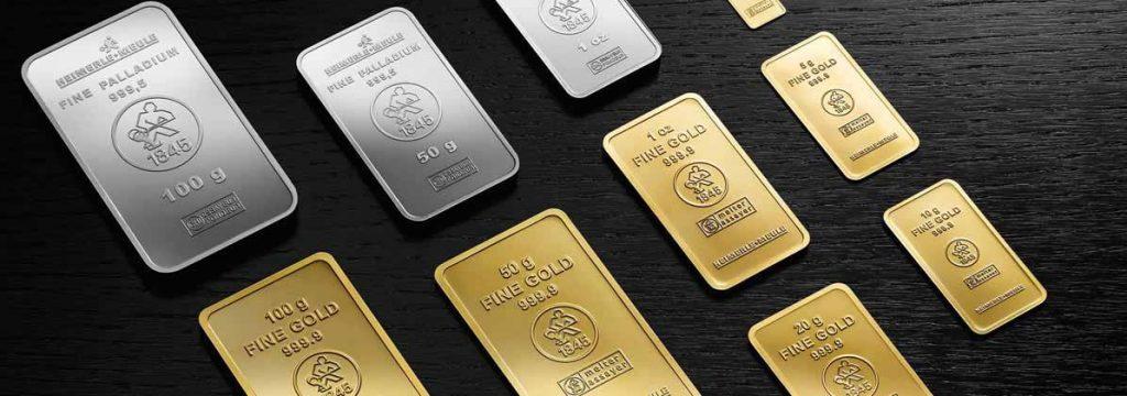 Geprägte Goldbarren