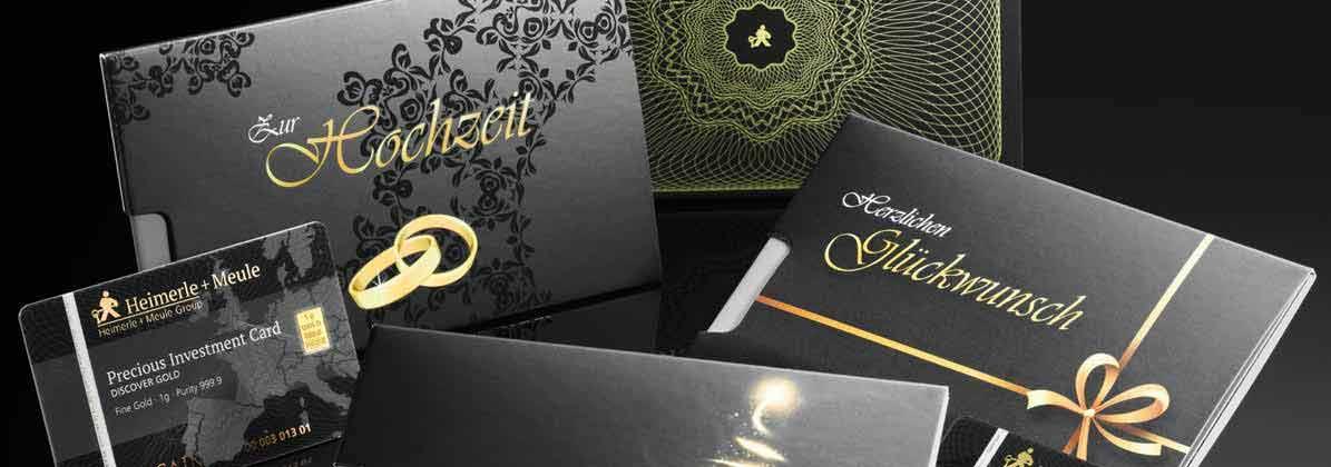 Geschenkkarten Goldbarren