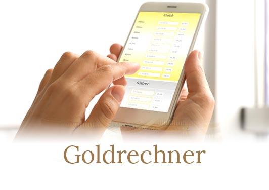 Goldpreisberechnung am iphone