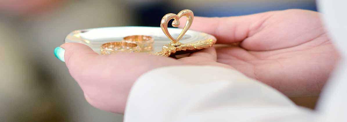 Paar Ringe werden vorgestellt