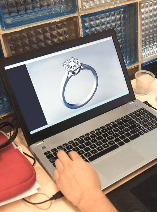 Schmuck 3d Design am Computer