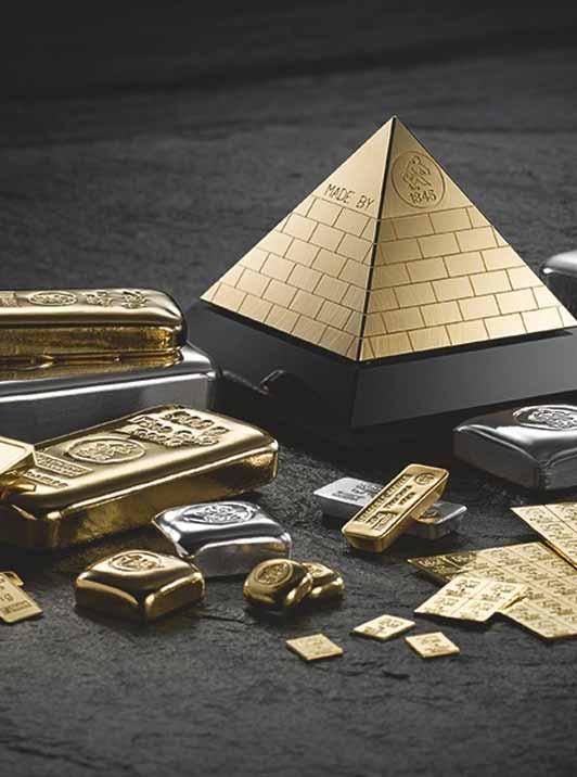 Unterschiedliche Goldbarren