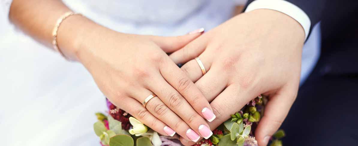 Hochzeit, Paar, Trauringe